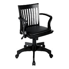 Office Star Products Star Deluxe Banker's Chair with Vinyl Seat by