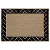 Art Carpet Plymouth Tied Framed Lattice Indoor Outdoor Rug