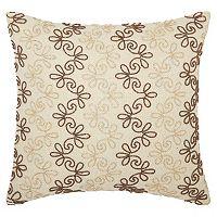 Mina Victory Lumin Flower Stripes Throw Pillow