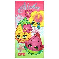 Moose Toys Shopkins Character Printed Beach Towel