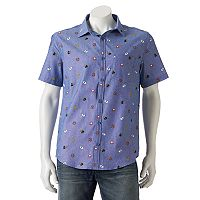 Men's Super Mario Bros. Button-Down Shirt
