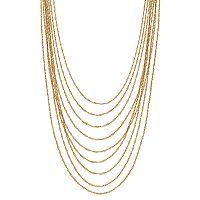 Jennifer Lopez Twisted Chain Multi Strand Necklace