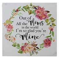 Belle Maison ''Glad You're My Mom'' Box Sign Art