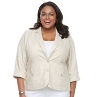Plus Size Napa Valley Cuffed Blazer