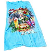 Margaritaville Cheeseburger In Paradise Beach Towel