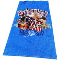 Margaritaville Live Life Like A Song Beach Towel
