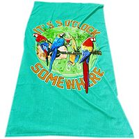 Margaritaville Rockin' Parrots Beach Towel