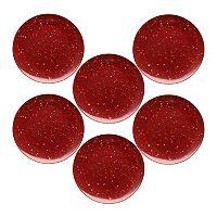 Zak Designs Confetti 6-pc. Melamine Dinner Plate Set