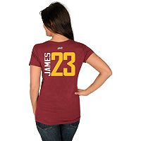 Women's Majestic Cleveland Cavaliers LeBron James Tee