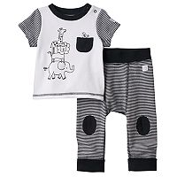 Baby Boppy Safari Graphic Tee & Striped Pants Set