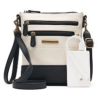 Stone & Co. Plugged In Smartphone Charging Leather Convertible Crossbody Bag