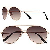 LC Lauren Conrad 58mm Per Se Aviator Gradient Sunglasses