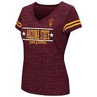 Juniors' Campus Heritage Arizona State Sun Devils Double Stag V-Neck Tee