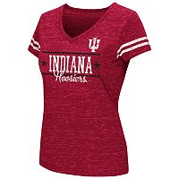 Juniors' Campus Heritage Indiana Hoosiers Double Stag V-Neck Tee