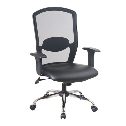 Office Star Products Screen Back Leather Seat Executive Chair