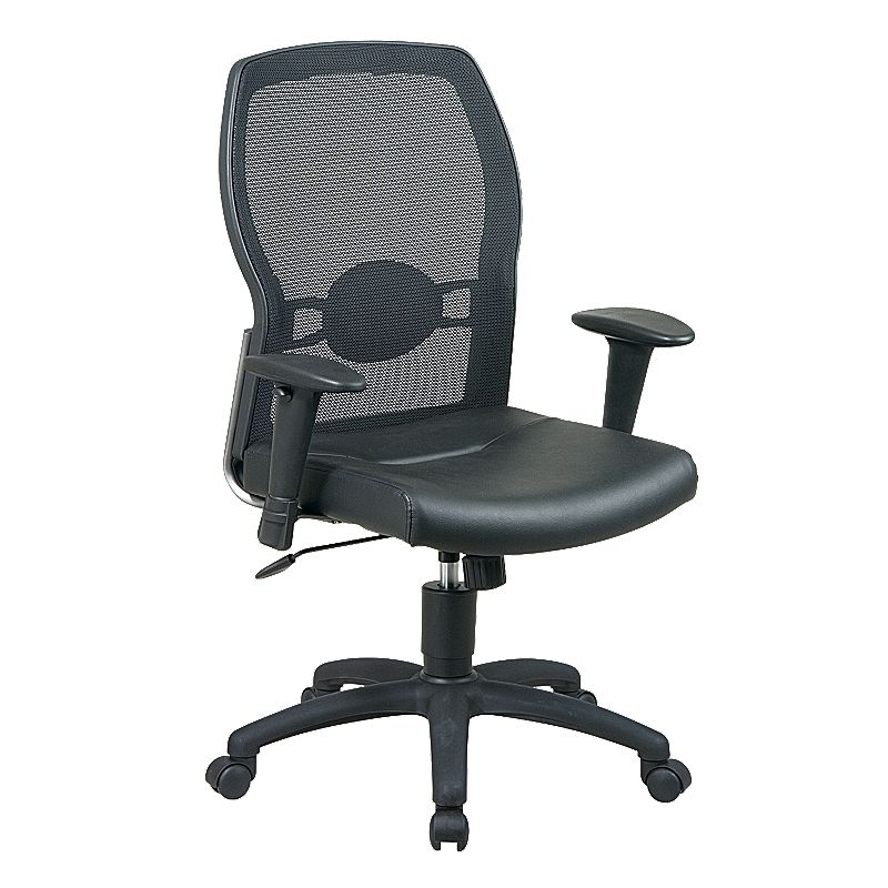 Office Star Products Leather Seat Screen Back Chair