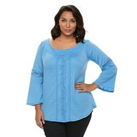 Plus Size French Laundry Smocked-Neck Top