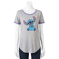 Disney's Lilo & Stitch Juniors' Ringer Graphic Tee