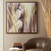 Madison Park Signature Seaside Egrets Framed Canvas Wall Art