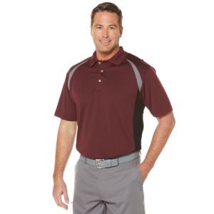 Men's Grand Slam Regular-Fit Colorblock Performance Golf Polo