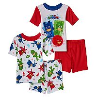 Toddler Boy PJ Masks 4-pc. Glow-in-the-Dark Owlette, Gekko & Catboy Pajama Set