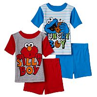 Sesame Street Elmo & Cookie Monster Toddler Boy 4-pc. Pajama Set