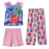 Toddler Girl PJ masks Catboy, Gekko & Owlette 3-pc. Pajama Set