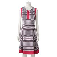 Women's Bethany Colorblock Striped Fit & Flare Dress