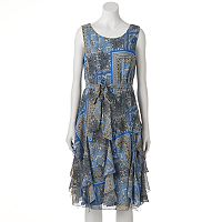 Women's Bethany Print Ruffle Fit & Flare Dress