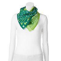 St. Patrick's Day 2-pk. Paisley Square Scarves
