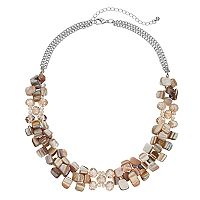 Composite Shell Bead Chunky Necklace