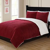 Ribbed Plush Comforter Set