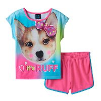 Girls 4-16 Jelli Fish Graphic Tee & Shorts Pajama Set