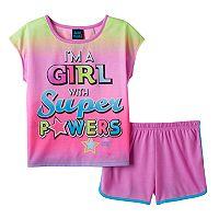 Girls 4-16 Jelli Fish Graphic Tee & Shorts Pajama Set