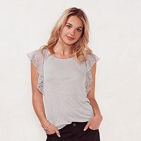 Women's LC Lauren Conrad Ruffle Lace Top