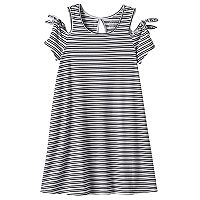 Girls 7-16 & Plus Size SO® Patterned Cold Shoulder Swing Dress