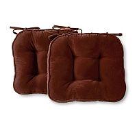 Greendale Home Fashions 2-pack Hyatt Reversible Chair Pad Set
