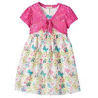Girls 4-6x Marmellata Classics Butterfly Dress & Shrug Set