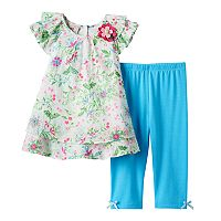 Girls 4-6x Marmellata Classics Floral Chiffon Tunic & Leggings Set