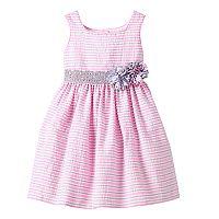 Girls 4-6x Marmellata Classics Pink & Gray Striped Seersucker Dress