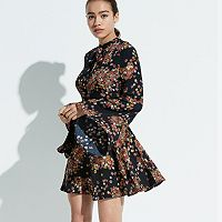 k/lab Floral Bell Sleeve Dress