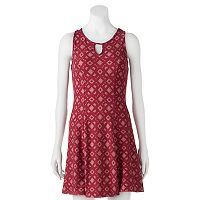 Juniors' Mudd® Keyhole Fit & Flare Dress