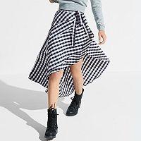 k/lab Gingham Wrap Skirt