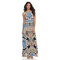 Women's Suite 7 Pleated Scroll Maxi Dress