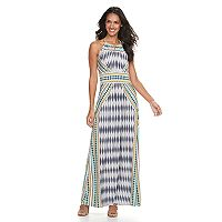 Women's Suite 7 Abstract Geometric Maxi Dress