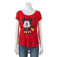 Disney's Mickey Mouse Juniors' Ringer Graphic Tee