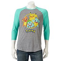 Men's Pokémon Pikachu Raglan Tee