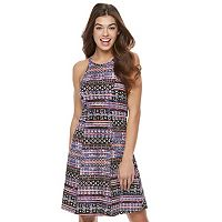 Juniors' Mudd® Print Strappy Halter Dress