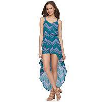 Juniors' Candie's® Print Skirt Overlay Romper