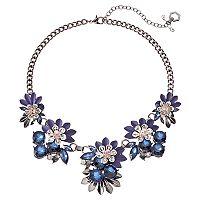 Simply Vera Vera Wang Blue Flower Statement Necklace